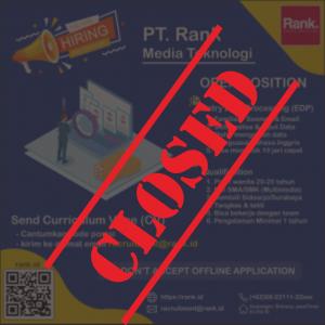 Open Recruitment Sep – Oct 2020! (CLOSED)